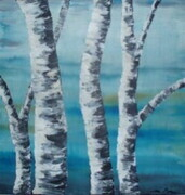 Birch on Blue 2