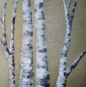 Birch on Yellow