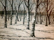 "Daniella's Winter Forest 30""x40"""