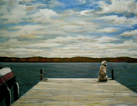 Lucy on the Dock   commission
