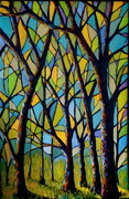 Stain Glass Forest 2,  2'x3'