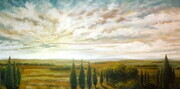 'Under The Tuscan Sky' commission 2'x4'