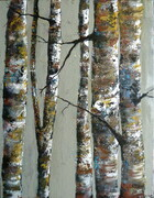 "Birch on Taupe 18""x28"""