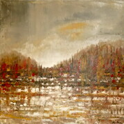 "20""x20"" Autumn at the Cottage"