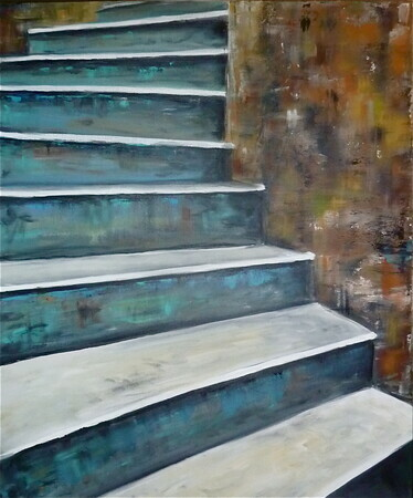 The Teal Staircase